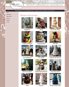 queen of cakes website