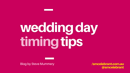 Wedding day timing tips