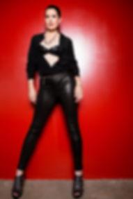 PHOTO Simone Ben Standing Red Background