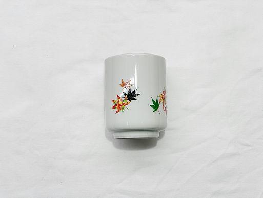丸モ高木陶器 温感紅葉 茶杯