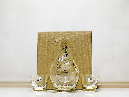 東洋佐々木ガラス 冷酒玻璃杯套裝 高瀬川 琥珀