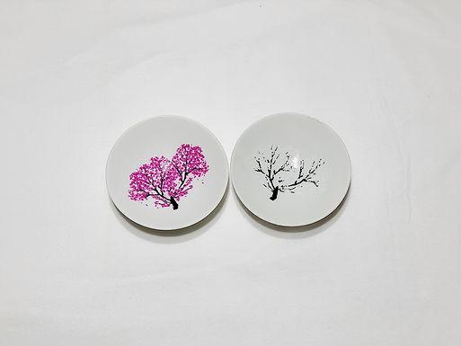 丸モ高木陶器 冷感櫻 平盃