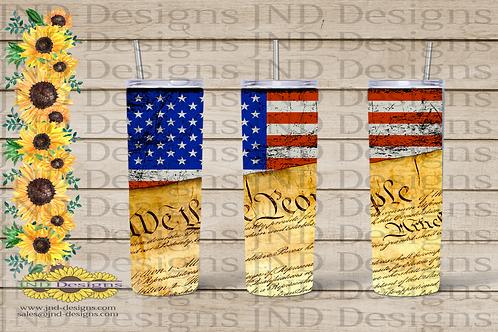 Patriotic Tumbler Series - USA Flag 03