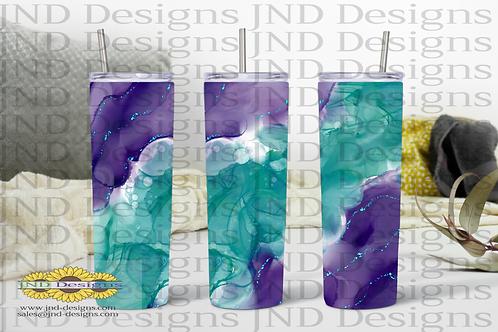 Geode Series Tumbler - Purple/Aqua