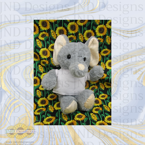 Custom Personalized Stuffed Elephant