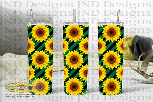 Floral Tumbler Series - Sunflower 02