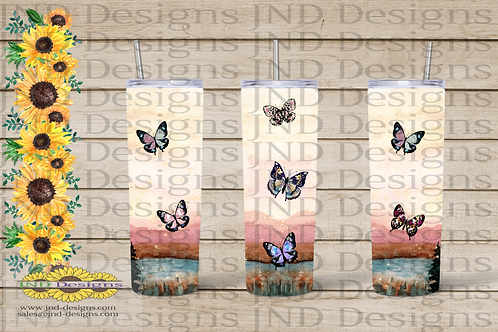Nature Tumbler Series - Butterfly on Lake