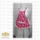 Thumbnail: Women's  and Child's Apron, flannel print with pockets