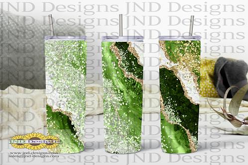 Geode Series Tumbler - Green
