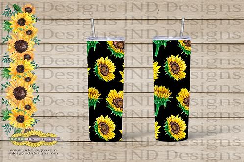 Floral Tumbler Series - Sunflower 03