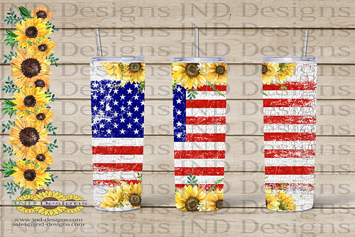 Patriotic Tumbler Series - USA Flag 02