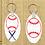 Thumbnail: Custom Personalized Oval Keychain