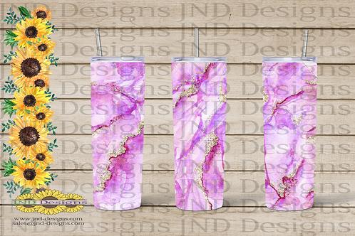 Geode Series Tumbler - Pink/Lilac
