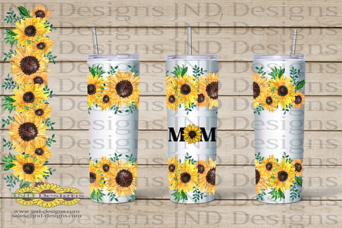 Floral Tumbler Series - Sunflower 06