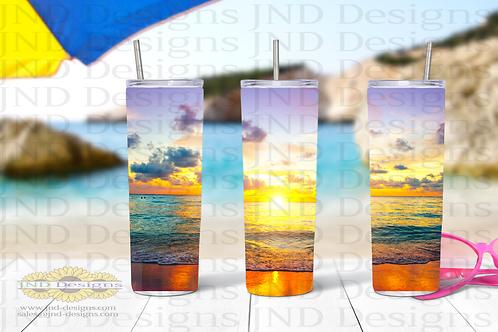 Nature Tumbler Series - Beach 3
