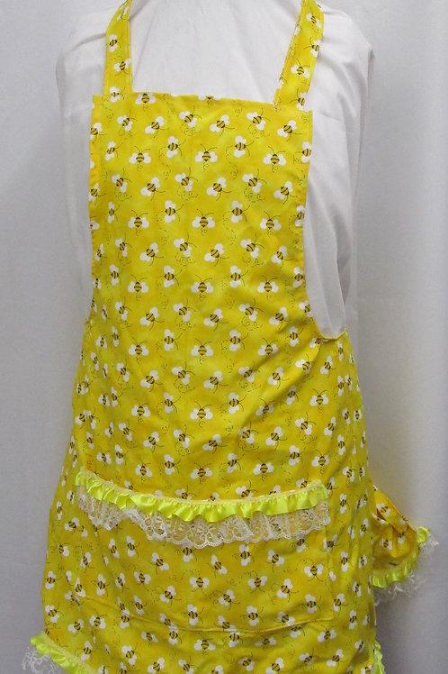 Women's Apron, Child's Apron, cotton print with pockets