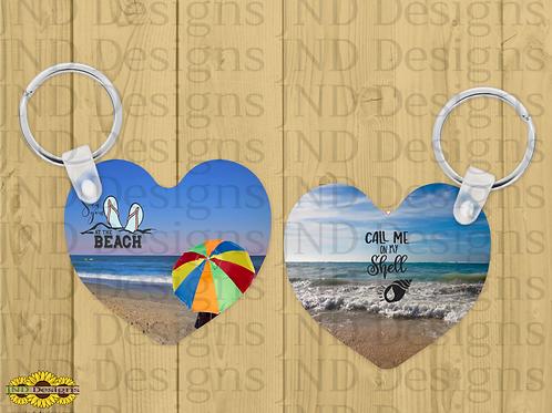 Custom Personalized Heart Keychain