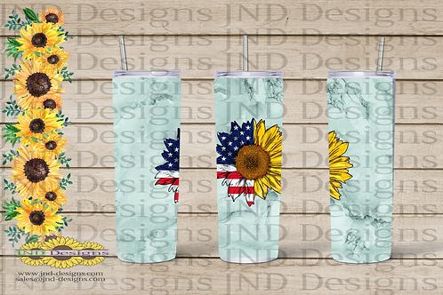 Floral Tumbler Series - Sunflower 05