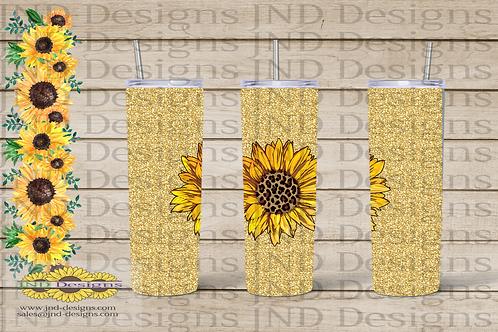 Floral Tumbler Series - Sunflower 07