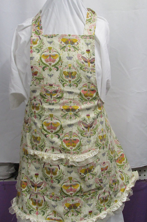 Women's Apron, Child's Apron, flannel print with pockets