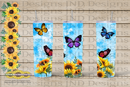 Nature Tumbler Series - Butterfly 02