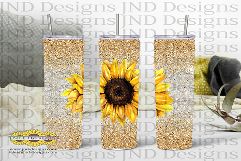 Floral Tumbler Series - Sunflower 01