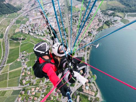 Paragliding over Montreux   Montreux, Switzerland