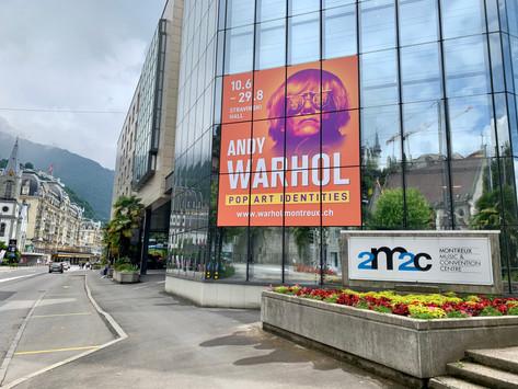 ANDY WARHOL exhibition in the legendary Auditorium Stravinsky, Montreux   Switzerland
