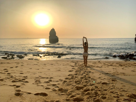 Energize through the sunrise at Praia do Camilo Lagos, Algarve | Portugal
