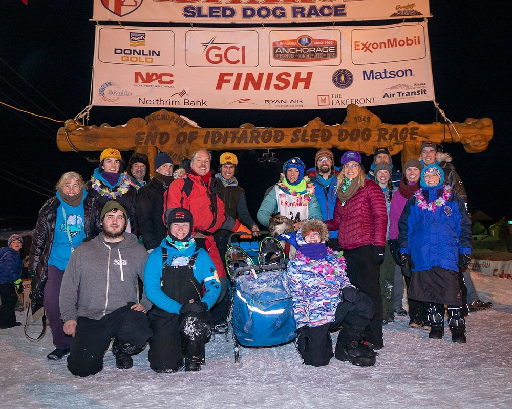Family photo at the finish