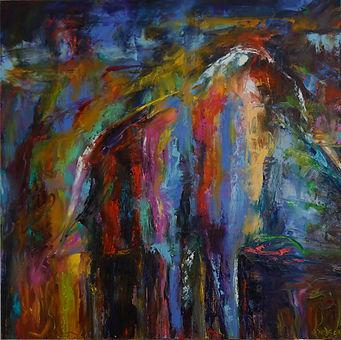 Tears of the Eagle 36 x 36 oil on canvas