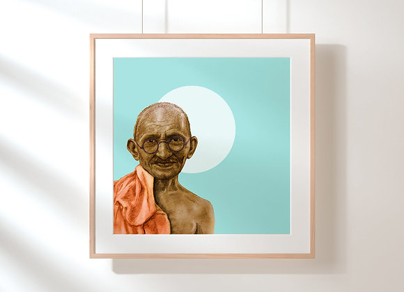 Gandhi-wall art