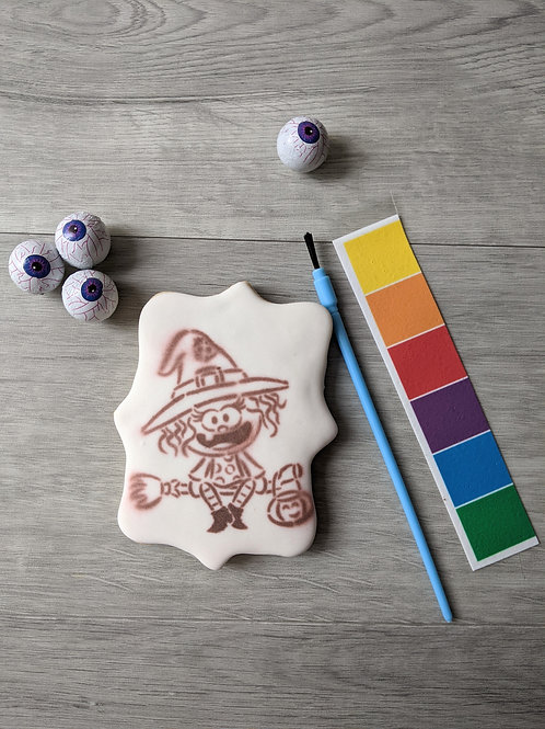 Paint your own cookie: Halloween Witch