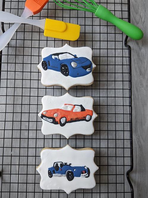 Car cookie set of three