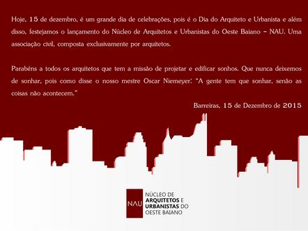 Feliz Dia do Arquiteto e Urbanista