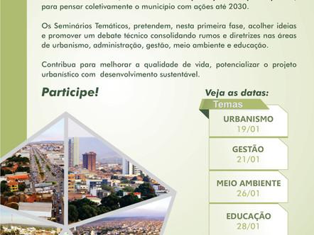 Engenheiros, Arquitetos e População discutirão Urbanismo amanhã em Seminário Técnico