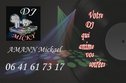 Carte de Visite Dj Micky Recto