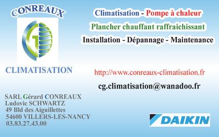 Carte de Visite Conreaux Climatisation