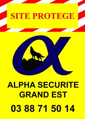 Panneau de Chantier Alpha Sécurité Grand Est