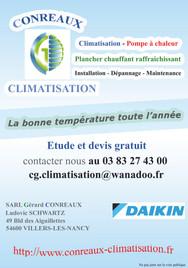 Flyer Conreaux Climatisation