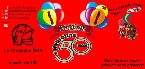 Carte invitation pour les 50 ans