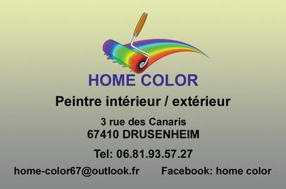 Carte de Visite Home Color Recto