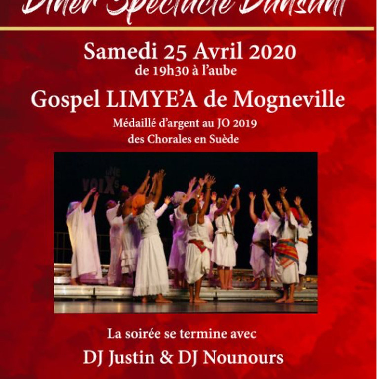 DINER SPECTACLE DANSANT a la SALLE Medane3  - ANNULE (COVID!!!)