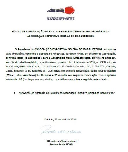 EXTRAORDINÁRIA - EDITAL DE CONVOCAÇÃO PA
