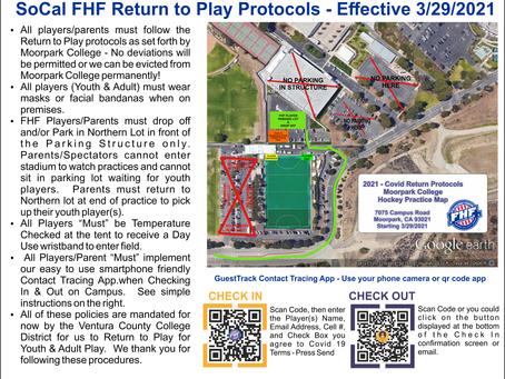 Return to Practice & Play Protocols