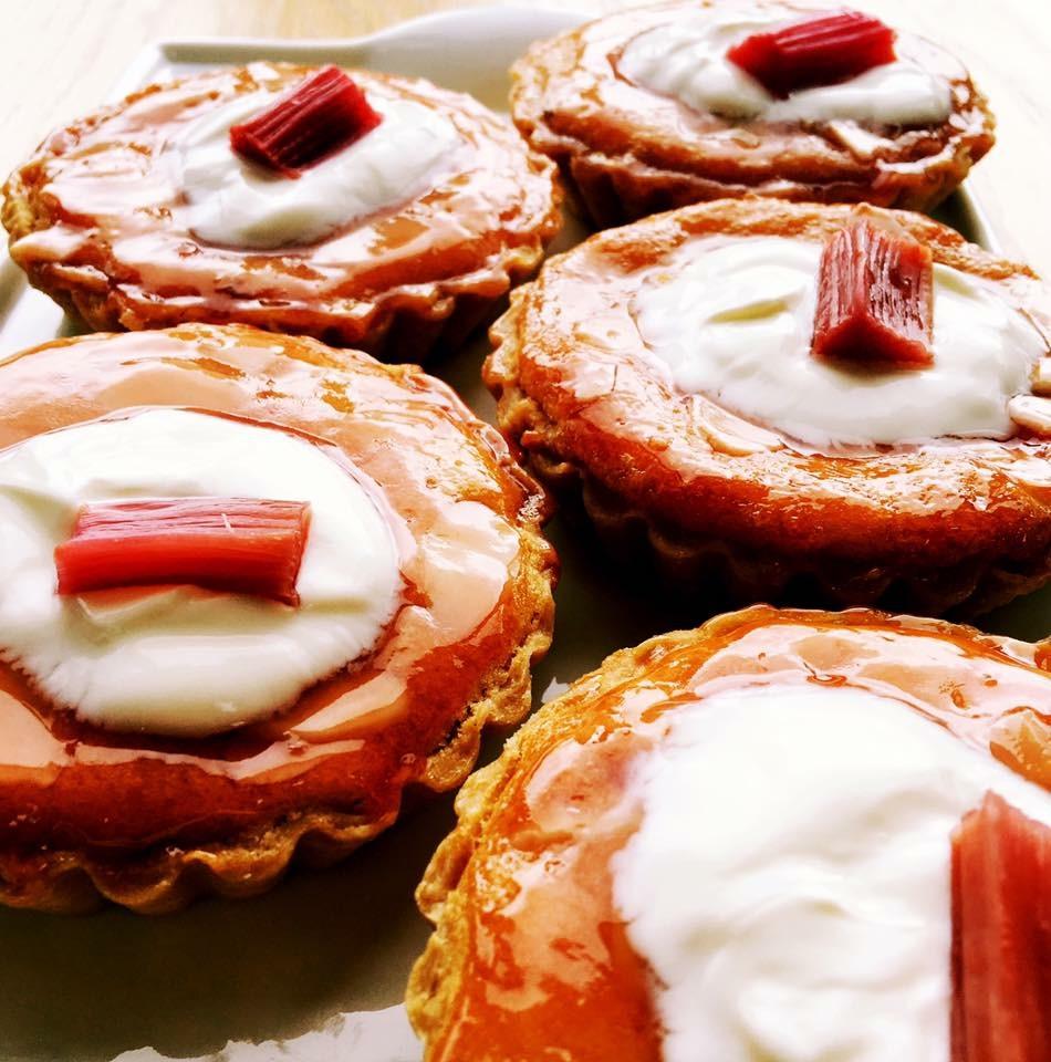 Rhubarb bakewells