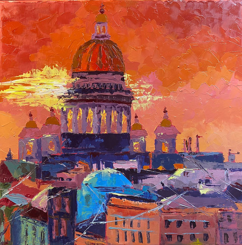 ISAAC'S CATHEDRAL AT SUNSET, ST.