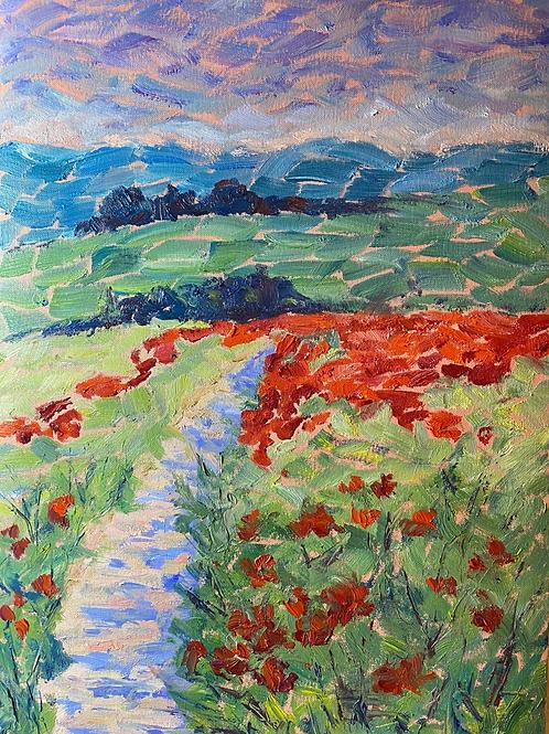 Poppy fields, impression