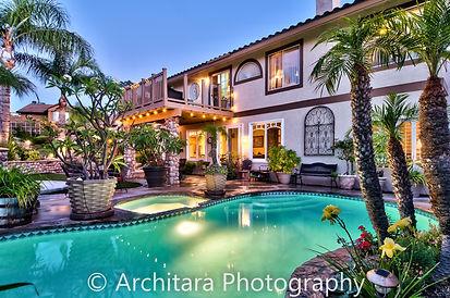 exterior twilight real estate photo