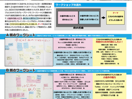 小金井の未来をつくる会NEWS 4号発行!